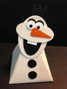 Playful Pals, Disney's Olaf from Frozen, Pyramid Pal Thinlit Die, Gift Box, Party Favor, Stampin' Up!, Rubber Stamping, Handmade
