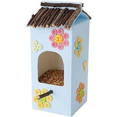 Milk Carton Kids Craft Bird Feeder