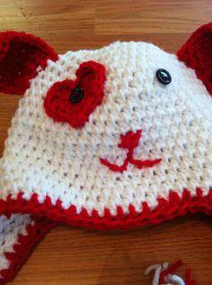 Valentines crochet baby hat by DesignsbyTiffanyJ on Etsy, $15.00