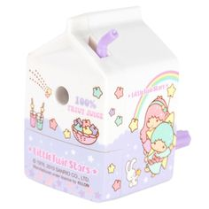 New Sanrio Little Twin Stars Cute Milk Box Shape Pencil Sharpener Purple | eBay <3