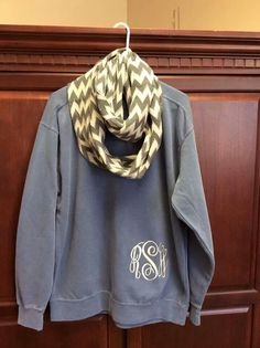 Look! It even has my monogram on it! It's a sign. Fall Winter Outfits, Autumn Winter Fashion, Summer Outfits, Monogram Sweatshirt, Sweater Weather, Dress Me Up, Dress To Impress, Preppy, What To Wear