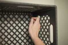 Milk crate shelves.  Hanging tutorial.