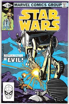 "Items similar to Marvel Star Wars Comic ""Resurrection of Evil"" - 1981 Star Wars on Etsy Star Wars Comic Books, Star Wars Comics, Marvel Comic Books, Star Wars Art, Marvel Comics, Star Trek, Film D'animation, Dc Movies, Classic Comics"