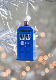 Tardis Christmas Ornament, yes please!