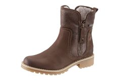 #TAMARIS #Damen #Boots mit #Tex-Ausstattung #braun Tamaris Boots, Absatzhöhe: 35 mm, Schuhweite: normal (Weite F), Reißverschluss.