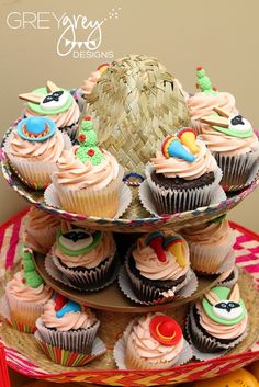 Sombrero Cupcake stand! Perfect for Cinco de Mayo