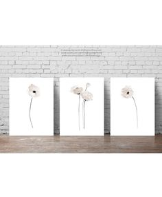 Poppy Clip Art Taupe Floral Home Decor set 3, Rustic Minimalist Modern Bedroom Wall Print, White Poppies Abstract Watercolor Illustration by ColorWatercolor on Etsy https://www.etsy.com/listing/463152646/poppy-clip-art-taupe-floral-home-decor