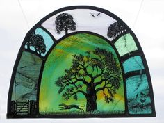 Beautiful stained glass by Tasmin Abbott.