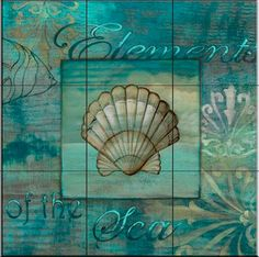 Tile Mural - Coquillage 2   - Kitchen Backsplash Ideas beach-style-tile-murals
