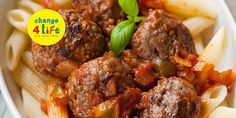 Healthy recipe: Meatballs 'n' sauce Baby Recipes, New Recipes, Cooking Recipes, Healthy Recipes, Lunch Ideas, Meal Ideas, Dinner Ideas, Baking With Toddlers, Healthy Meatballs
