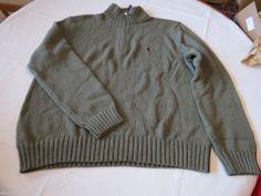 Polo Ralph Lauren sweater pull over shirt XXL xxlg 0186176 grn classics05 Men's