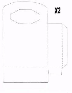 Octagon Handled X2 Bag Janice Wallace Blank Templates