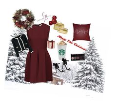 """Chic in Christmas XXOOXX"" by carolinabejar on Polyvore featuring Belleza, Surya, Sandro, Miss Selfridge, Frontgate y Chanel"
