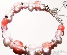 シャンカリ:ピンクトパーズ×アメシストブレスレット