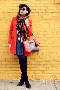 Keiko Lynn. Primary colored plaid and black. Love!