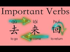 Learn Chinese Vocabulary HSK 1: 去qù--go; 来lái--come; 回huí--return - YouTube