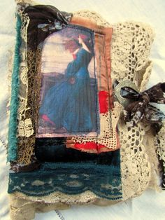 Shabby Chic Fabric Needle Book/Journal