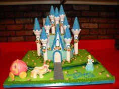 cinderella carriage cake   gumpaste cinderella, modeling choc. horses/carriage, buttercream cake