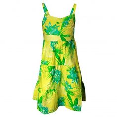 ShopperTree Girls Floral Printed Spaghetti Strap Frock (Green) #summerdresses #dressesforgirls #babyfrocks