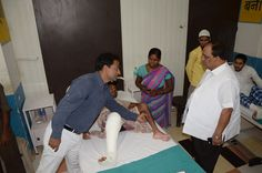 Former Uttar Pradesh Health Minister Visited Narayan Seva Sansthan and praised its social activities for specially able and needy people.  www.narayanseva.co.za