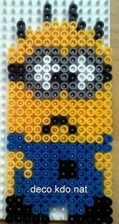 Despicable Me Minion hama perler beads by deco. Pearler Bead Patterns, Perler Patterns, Pearler Beads, Minion Ornaments, Minion Pattern, Pixel Beads, Minion Birthday, Happy Birthday, Hama Beads Design