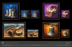 "ArtStation - Icons for Plarium project ""Throne: Kingdom at War"" , Alex Gnilickiy"