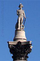 Nelson's Statue atop Nelson's Column at Trafalgar Square