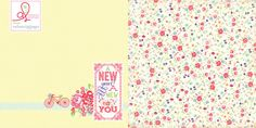 Adore the flowery patterns on this New Year New you collection by Adrienne Looman for Websters pages :)