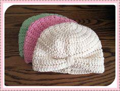 Cream Crochet Newborn Baby Turban Hat by fun2make on Etsy, $12.95