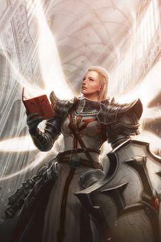 Faith in Light - Diablo 3 Reaper of Souls Fanart by me-illuminated on deviantART