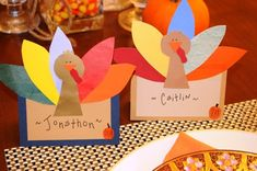 DIY turkey place cards - could be used for door decs
