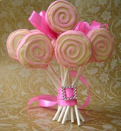 Lolli-cake-pops tutorial and cake pop bouquet... Make them in your Holiday or celebration colors!