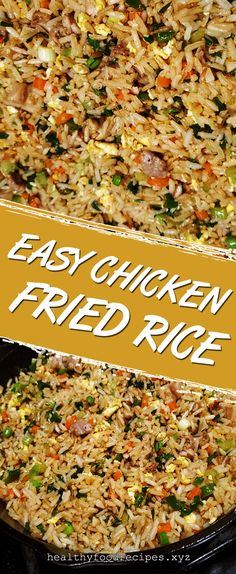 Easy & Delicious Chicken Fried Rice Recipe you must try at home Chicken Fried Rice Chinese, Chicken Fried Rice Recipe Easy, Chicken Fried Cauliflower Rice, Chicken Rice Recipes, Easy Rice Recipes, Thai Chicken, Fried Rice Recipe Indian, Fried Rice With Egg, Fried Rice Calories