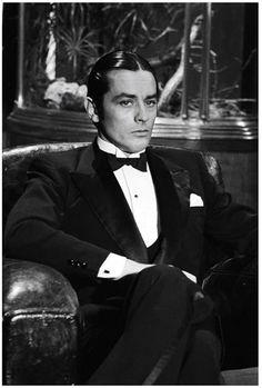 Alain Delon #vintage #blacktie #bowtie