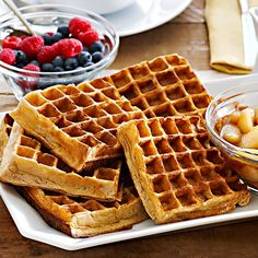 Whole Wheat Waffles with Sautéed Pears | Williams-Sonoma