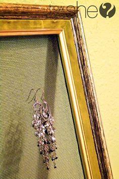 Picture Frame Earring Holder (Tutorial)