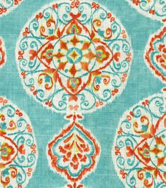 Home Decor 8''x 8'' Fabric Swatch Print Fabric-Dena Mirage Medallion Capri at Joann.com