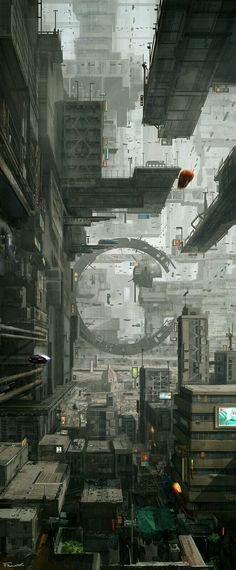 Future cityscape, #cyberpunk #scifi setting inspiration