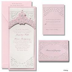 Invitations by Dawn offers exceptional stationery with a custom look for a fabulous price. Discover the world of fairy tale wedding invitations here at Dawn. We offer a variety of designs and styles to fit your romantic, fairy tale theme. Fairytale Wedding Invitations, Princess Invitations, Disney Inspired Wedding, Wedding Disney, Disney Weddings, Fairytale Weddings, Sleeping Beauty Wedding, Princess Wedding, Modern Princess