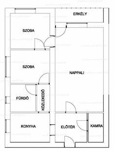 Eladó tégla építésű lakás - Somogy megye, Kaposvár, Petőfi utca #31651457 Utca, Floor Plans, Diagram, Floor Plan Drawing, House Floor Plans