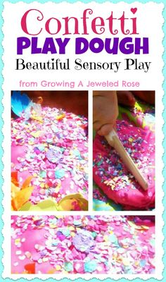 BEAUTIFUL confetti play dough- simple and fun to make and lots of fun to play with after!