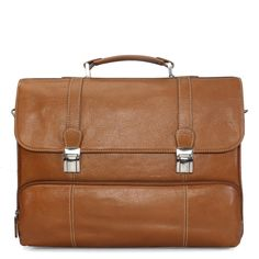 Buy #Tan Full Grained #Leather #Briefcase / Office Bag By Brune Online at Rs.5,500/-