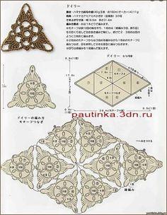 Tejido de punto y ganchillo motivos triangulares no sólo .... Hable con LiveInternet - Servicio rusos Diarios Online    Triangle shape. also  a motif -PB