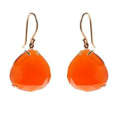 Jamie Joseph orange chalcedony earrings at Greenwich Jewelers  $575
