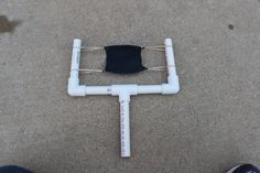 Make Your Own PVC Pipe Sling Shot!  This works very well.  My grandson loved it!
