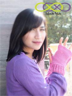 Mitones guantes sin dedos #tejidoamano #heandmade #winter #moda