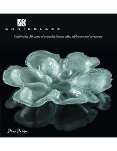 Handcrafted glass dinnerware & home decor. Dew Drops, Signature Design, Serveware, Luxury Gifts, Decorative Accessories, Creative, Flowers, Annie, Glass