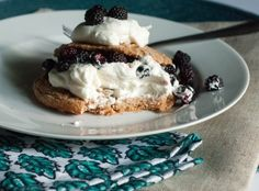 Whole Wheat Blackberry Shortcakes with Fresh Whipped Cream