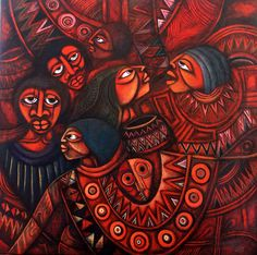 Works by the late, great Mozambican artist and poet, Valente Ngwenya Malangatana (1936-2011).