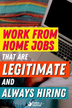 Here's a collection of legitimate work from home jobs hiring now, starting with a few quick tips on where to look for stay at home jobs –to get hired faster and have more money in your pocket. // remote jobs no experience, remote jobs 2020, where to find remote jobs, remote job entry level, legitimate work at home jobs